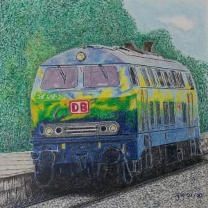 Julia Rötlich – DB 218 Touristiklok